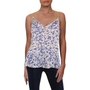 Free People Kora Camisole Floral Scalloped top